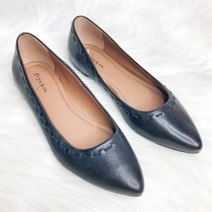 Frye & Co Erin Stitch Pointed Toe Ballet Flats